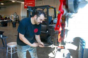 Foundery power hammer metalwork